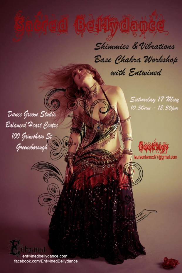 Sacred Bellydance: Shimmies & Vibrations / Base Chakra Workshop